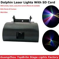 עיצוב חדש 1 W RGB צבע מלא אורות לייזר עם SD דולפין כרטיס חג המולד המפלגה הצג מועדון בר פאב חתונה קישוטי ליל כל הקדושים