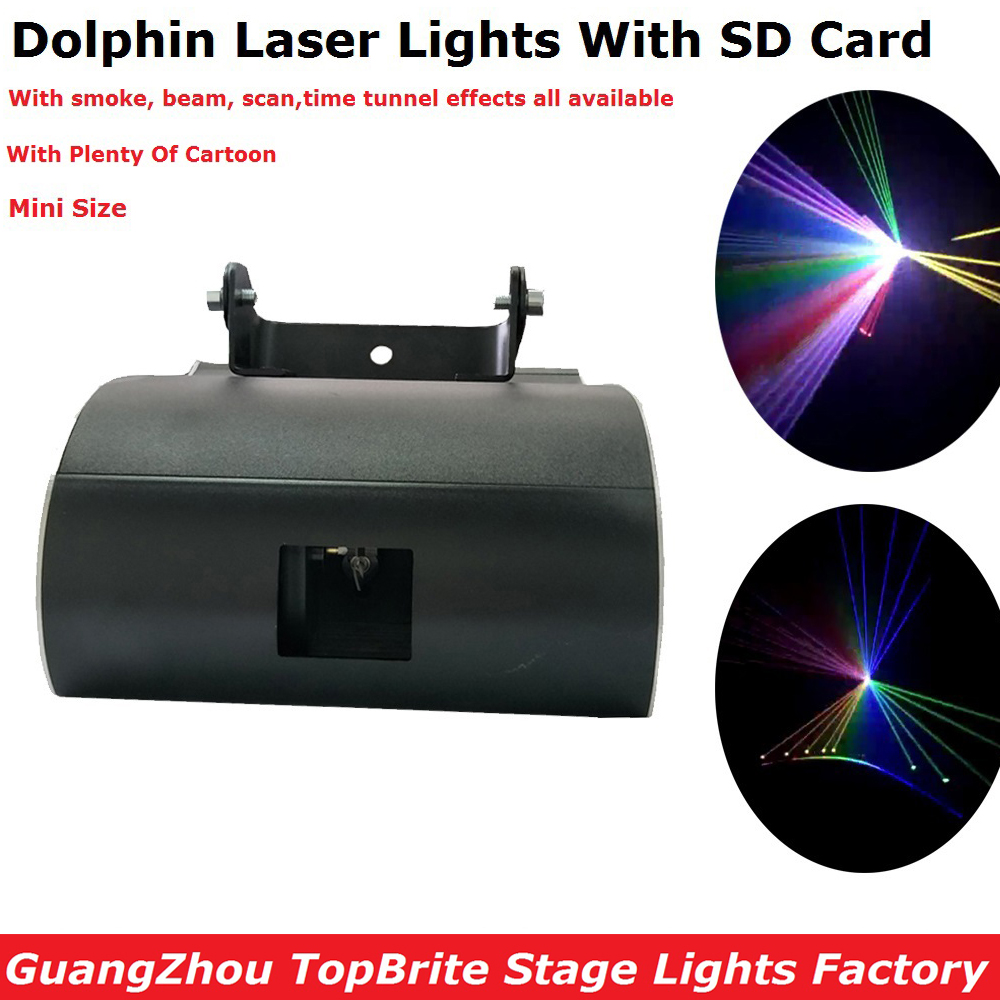 NEW Design 1W RGB Full Color Dolphin Laser Lights With SD Card For Xmas Party Show Club Bar Pub Wedding Halloween Decorations 9 2016 new 3d color printer dual kit for sale 3dprinter electronics with one roll filament masking tape 2gb sd card for free