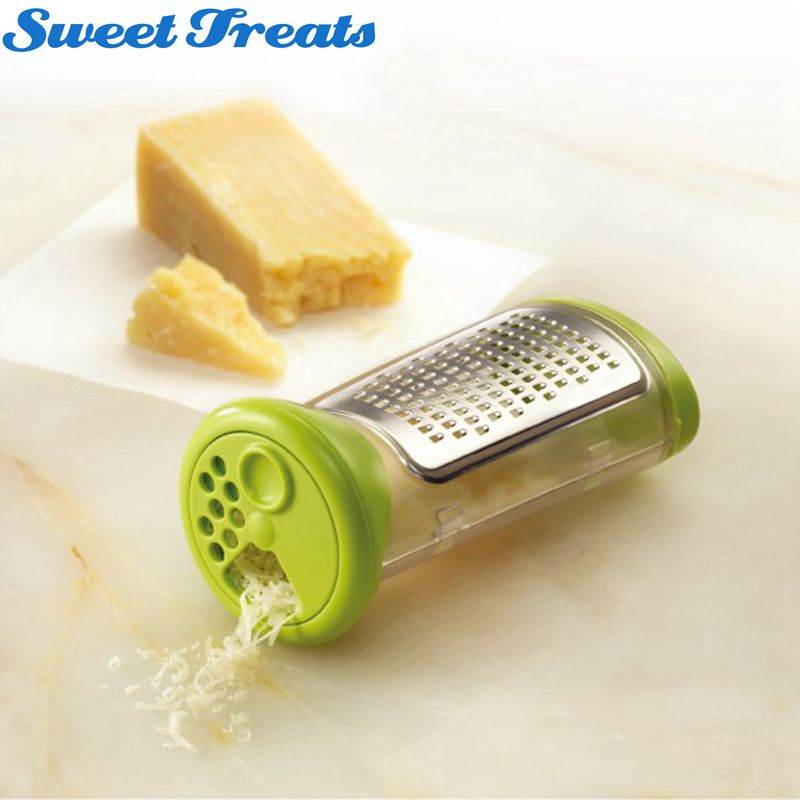 Cheese Grate and Measure with Etched Stainless Steel Grating...