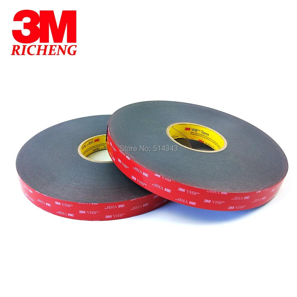 1Roll/Lot 3M VHB 5952 Heavy Duty Double Sided Adhesive Acrylic Foam Tape Black 10MMx33Mx1.1MM стоимость
