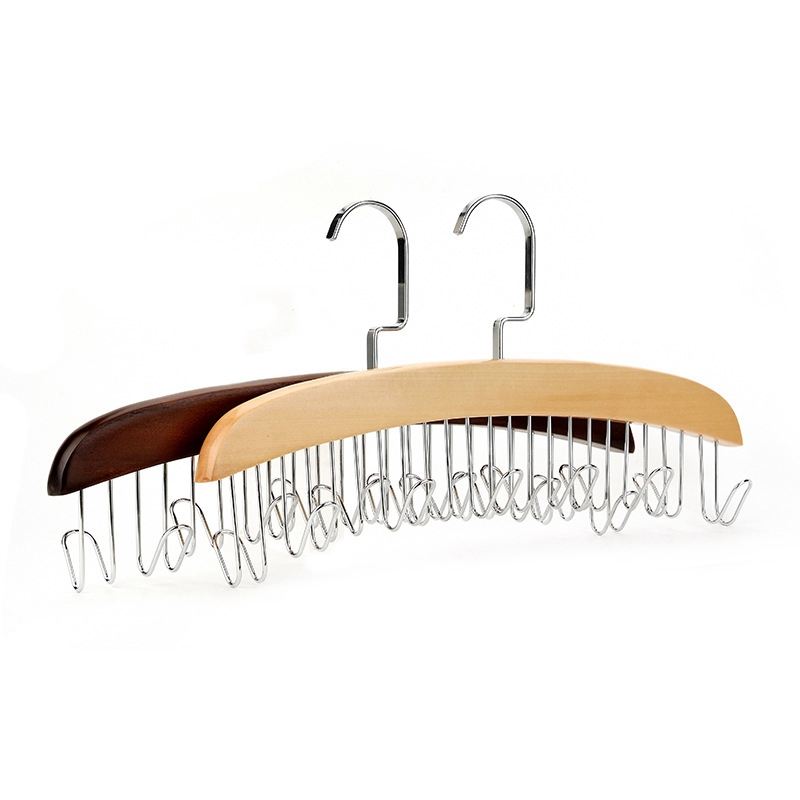 Lasperal Home Wood Tie Hanger Hook Belt Organizer Rack