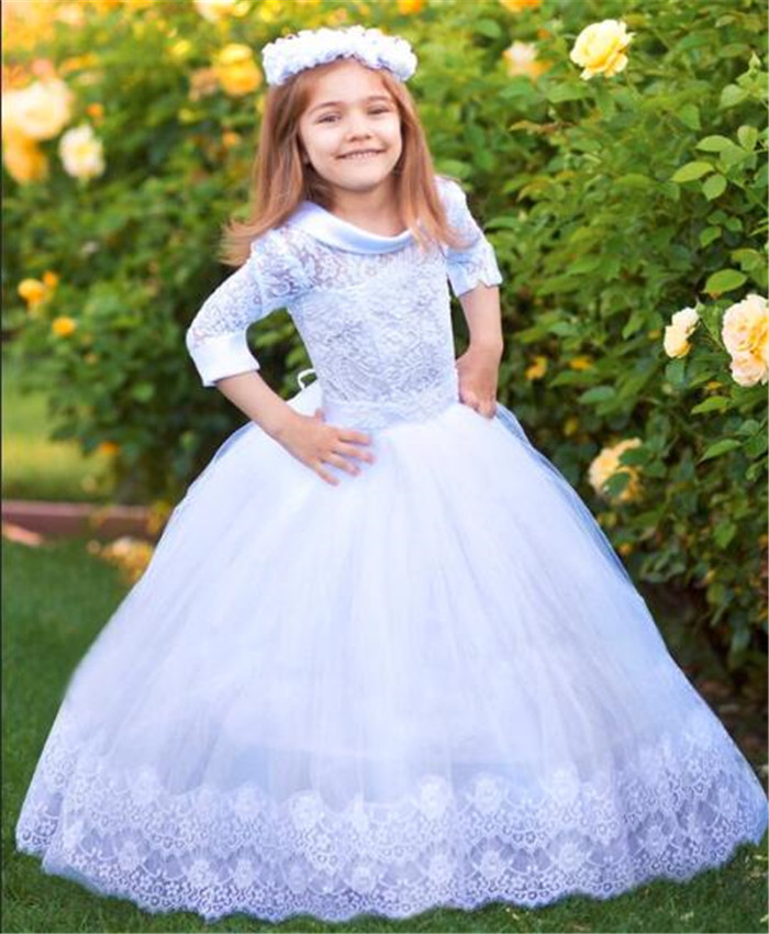 Beautiful   Flower     Girl     Dress   for Wedding Lace Up Back Any Size Any Color Ball Gowns For   Girls   Birthday Party Princess   Dresses