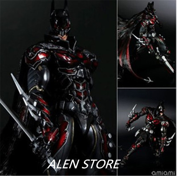ALEN Superhero Movie Batman red Limited Ver Action Figure Playarts Kai figurine kids hot Toys Model Play arts collectibles alen play arts kai batman timeless wild west red ver pvc action figure collectible model toy 27cm
