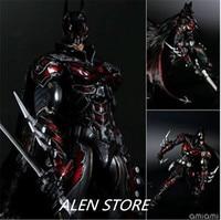 ALEN Superhero Movie Batman red Limited Ver Action Figure Playarts Kai figurine kids hot Toys Model Play arts collectibles