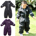 kids/children/boys/girls autumn/winter waterproof, windproof jumpsuit, ski overalls, black, burgundy, high quality (MOQ: 1pc)