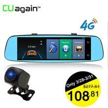 Cuagain CU6 смарт-dash cam 4 г Wi-Fi DVR 8′ зеркало GPS автомобиля Камера ADAS Bluetooth Сенсорный экран видео Регистраторы Android регистратор