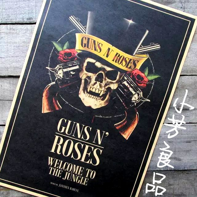 Vintage Poster Retro Guns N Roses Guns And Roses Posters
