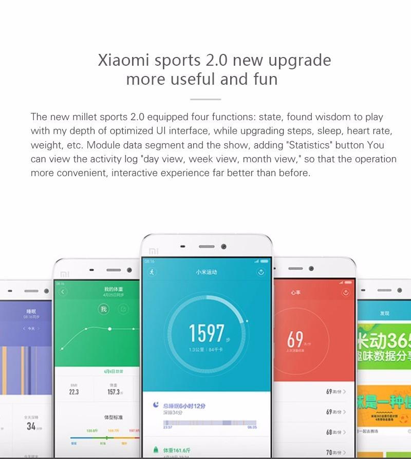 Original Xiaomi Mi Band 2 Fitness Smart Bracelet,Heart Rate Pulse Monitor,Pedometer,Activity Tracker,Bluetooth Smart Wristband 3