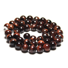 Wholesale AAA+ Quality Red tiger eye Natural Stone Round Loose Beads For jewelry Making 4/6/8/10/12MM DIY Bracelet Strand 15.5""