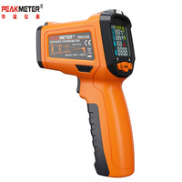 PEAKMETER PM6530D Non contact Infrared IR Laser Digital Thermometer Temperature Gun humidity Tester 50C~800C K type thermocoupl