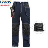 Männer arbeitskleidung Overalls arbeiten kleidung baumwolle frühling herbst hosen werkzeug taschen tragen-wider multi-funktionale knie pads B112