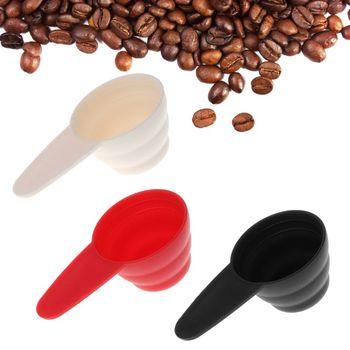 Plastikowa miarka spożywcza ze skalą 8g 10g 12g łyżka do kawy naczynia do pieczenia mleko w proszku łyżki tanie i dobre opinie Measuring Spoons 1 Pc