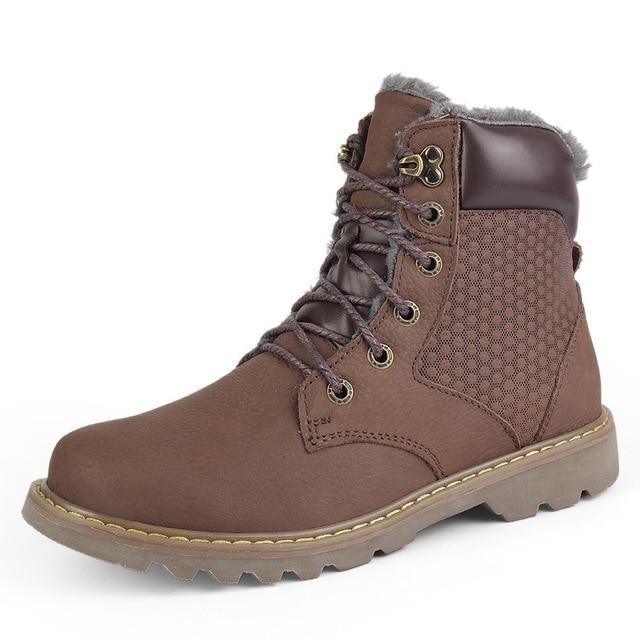 marrón De Zapatos Botas Negro Invierno Genuino Los brown Hechos Más Mano 2354 A Lana Cálido Hombres earth Nieve Cuero Natural 2019 Yellow S5XUwAqZ