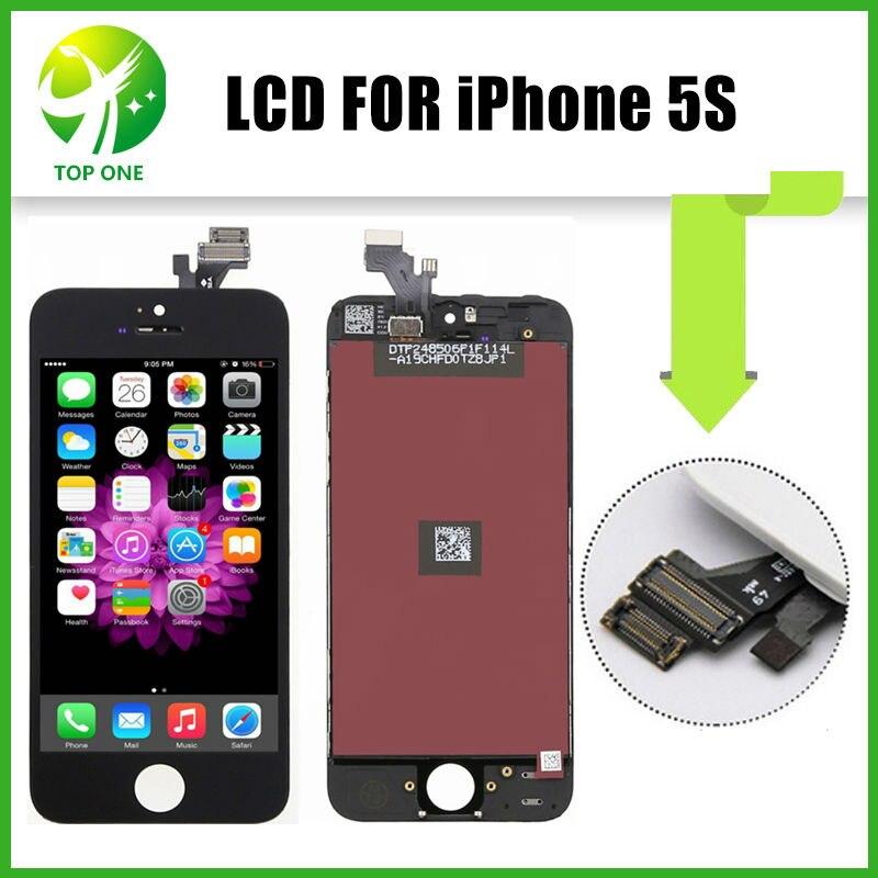 10 unids recambios del teléfono móvil para el iphone 5s reemplazo de la pantalla