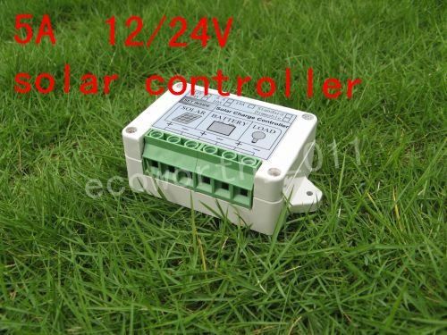 Solar Controller Regulator 5A 12V/24V Charge Battery Safe Protection CE Certify 5A solar charge controller# d17l 24ps3 03l1h1 24v 1 5a 36w