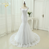 Cheap Price 2014 New Arrival Free Shipping Applique Tulle Long Train Sweetheart White Ivory Wedding Dresses