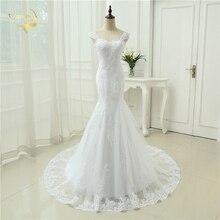 Sexy Vestidos De Novia Mermaid Robe De Mariage Tulle With Lace Detachable Straps Long Wedding Dresses 2019 OW 3050 Bridal Gown