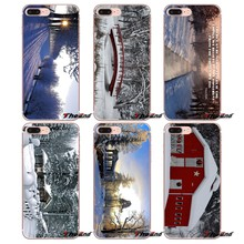 Fundas suaves transparentes para Apple iPhone X 4 4S 5 5S SE 5C 6 6 S 7 8 Plus 6 Plus 6 plus 7 7 8 plus WV invierno(China)