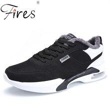 Fires Men Running Sneakers Winter Walking Shoes Plush Sport Low Top Jogging Patchwork Zapatillas Hombre Warm