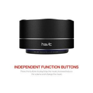 Image 2 - Havit Mini Bluetooth Lautsprecher Super Bass 3D Stereo Lautsprecher drahtlose Tragbare Lautsprecher mit 3,5mm Aux Micro SD Karte M8
