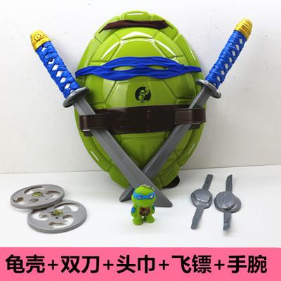 Ninja Tortoise COS Dressed Weapon Suit Turtle Shell Eye Mask To Give Toddler Child Ninja Turtle Model Toy