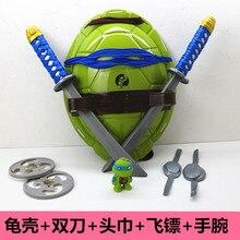 Ниндзя черепаха COS одет оружие костюм черепаший панцирь маска для глаз дать малыш ребенок ниндзя модель черепахи игрушка