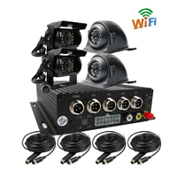 Gratis Verzending 4CH 256 GB SD WiFi Mobiele Auto DVR Recorder Real tijd Opname Back Rear Side Vooraanzicht Metalen Auto Camera Systeem