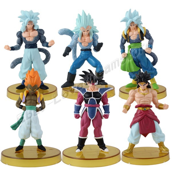 Us 25 99 Free Shipping 6x Dragon Ball Z Super Saiyan Raditz Vegeta 10cm 12cm Pvc Figure Set In Action Toy Figures From Toys Hobbies On
