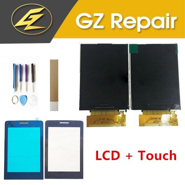 2,8 para Philips Xenium E570 E571 pantalla LCD separada con Sensor de pantalla táctil lente de cristal Color negro con herramientas cinta