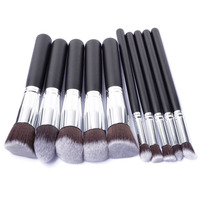 10pcs Makeup Brushes Eyeshadow Eyebrow Cosmetics Brush Set Synthetic Hair Ultra Soft And Smooth