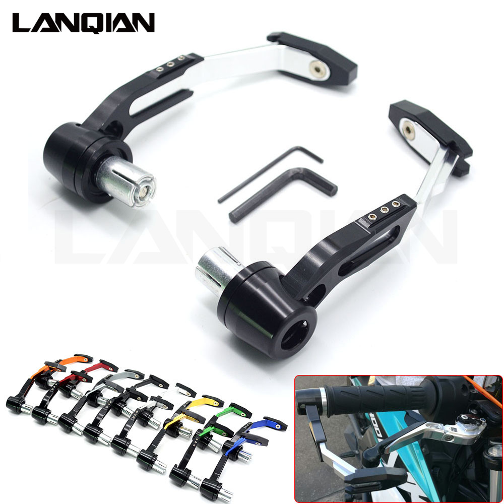 CNC Universal Motorcycle Brake Clutch Levers Protector Motorbike Lever Guard For Honda CRF1000L AFRICA TWIN CBF1000 XRV 750 GROM areyourshop motorcycle brake long clutch levers for honda vf750s sabre vfr750 vfr800 f vtr1000f cbf1000 motorbike brakes