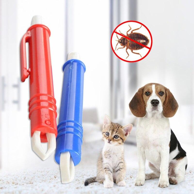 Remover Pet Dog Cat Eliminate Tweezers Flea Puppies Groom Tool Dog Accessories Dog Tick Remover Tweezers Pets Acessorios