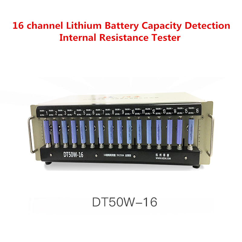 220V 16 Channel Lithium Battery Capacity Detection Internal Resistance Tester Polymer iron lithium detector 5V 10A Y