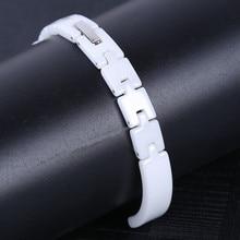 8mm Watchband Pearl Ceramics Ladies Women Delicate Radiation Protection Watch Strap Band Watchband Bracelet все цены