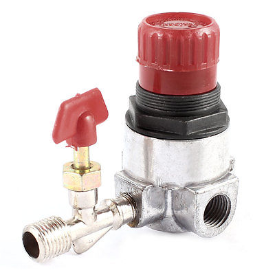 Air Compressor Male Female Thread Single Way Pressure Regulator Valve Switch male thread 3 way metal air compressor check valve gold tone g08 drop ship