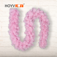 HOYVJOY New Year 2.7meters pink Rattan LED Home Decorations For Holiday Christmas Halloween Party Supplies
