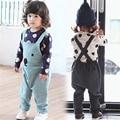Niñas Primavera Osos Lindos Niños Sistemas Ocasionales Niños Abrigos + Pantalones 2 unids Ropa de Los Muchachos Trajes CC0027