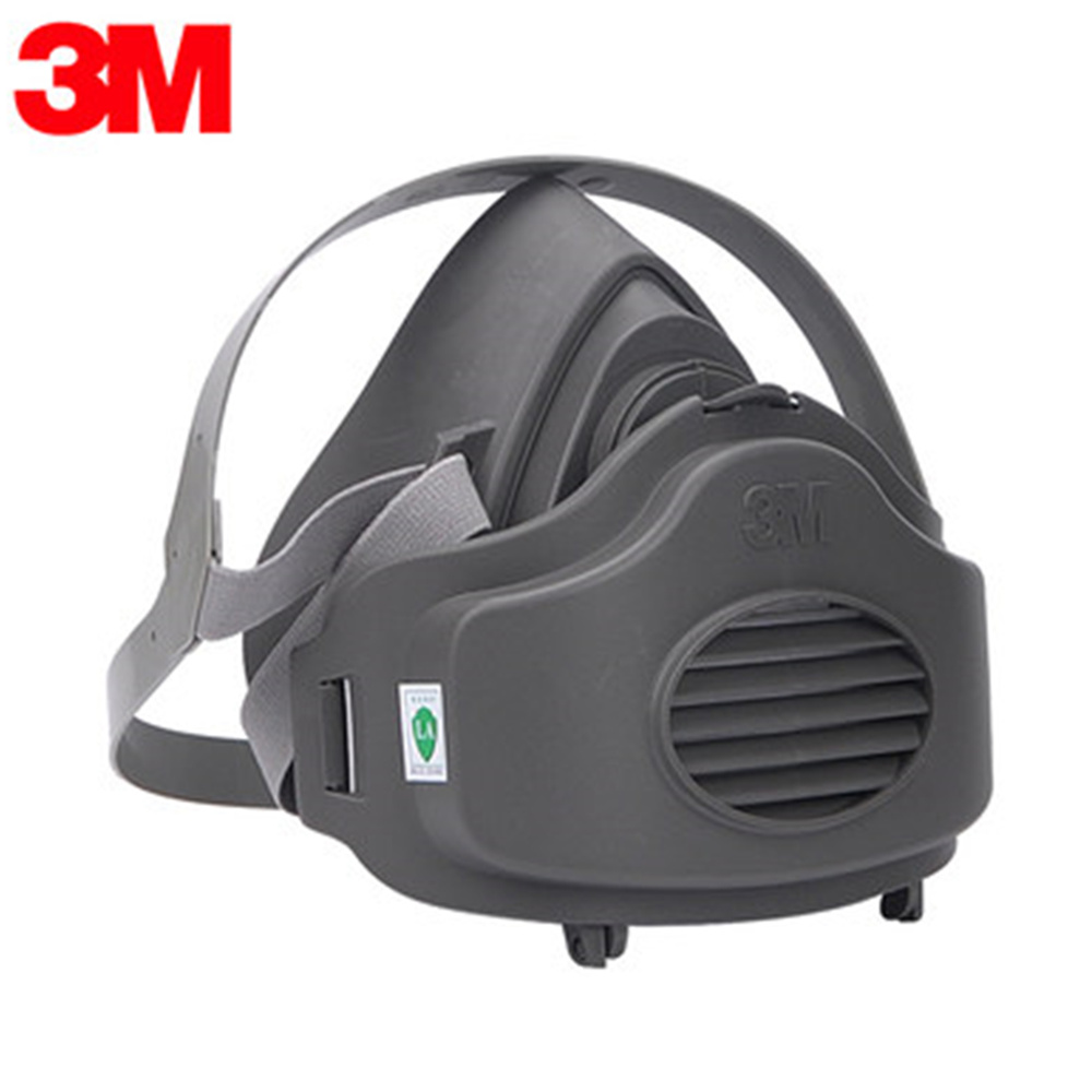3M 3200+50pcs Filters Half Face Dust Gas Mask KN95 Respirator Safety Protective Mask Anti Dust Anti Organic Vapors PM2.5 Fog3M 3200+50pcs Filters Half Face Dust Gas Mask KN95 Respirator Safety Protective Mask Anti Dust Anti Organic Vapors PM2.5 Fog