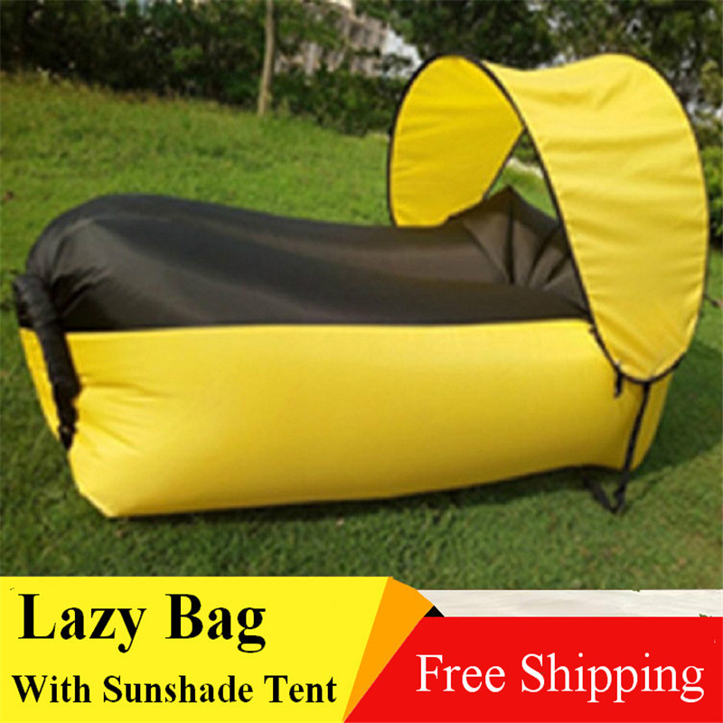 With Sunshade tent Lazy Bag Laybag Sleeping Bag Fast  : With Sunshade tent Lazy Bag Laybag Sleeping Bag Fast Inflatable Camping Air Sofa Sleeping Beach Bed from www.aliexpress.com size 800 x 800 jpeg 150kB