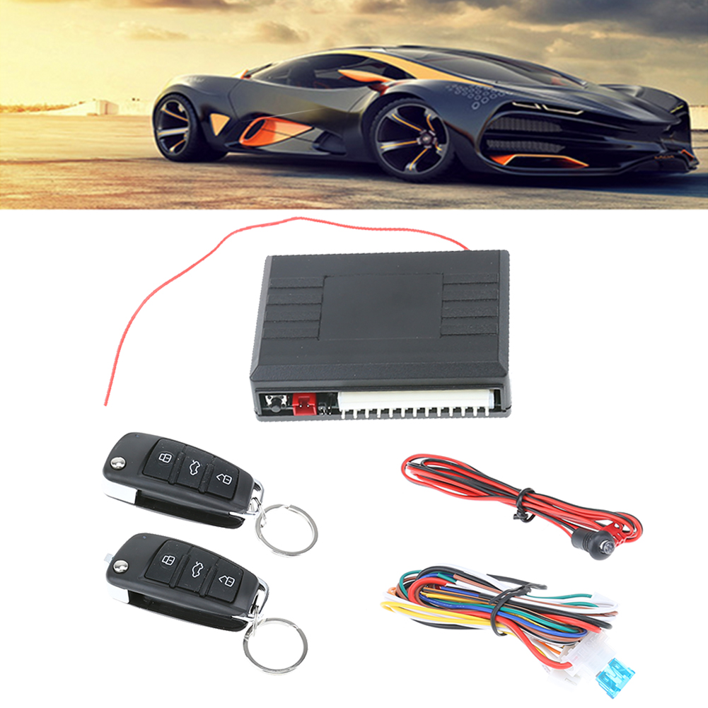 Universal Car Alarm System Auto Remote Central Kit Door Lock  Keyless Entry System Central Locking with 2 Remote Controls