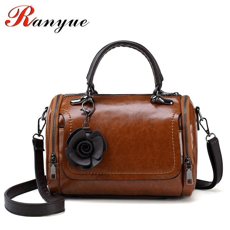 RANYUE Luxury Handbags Women Bags Designer 2018 Flower Shoulder Bag Women Vintage Tote Bag Sac A Main Femme De Marque Luxe Cuir kabelky luxury handbags women bags designer shoulder bag female big tote soft leather sac a main femme de marque luxe cuir 2016
