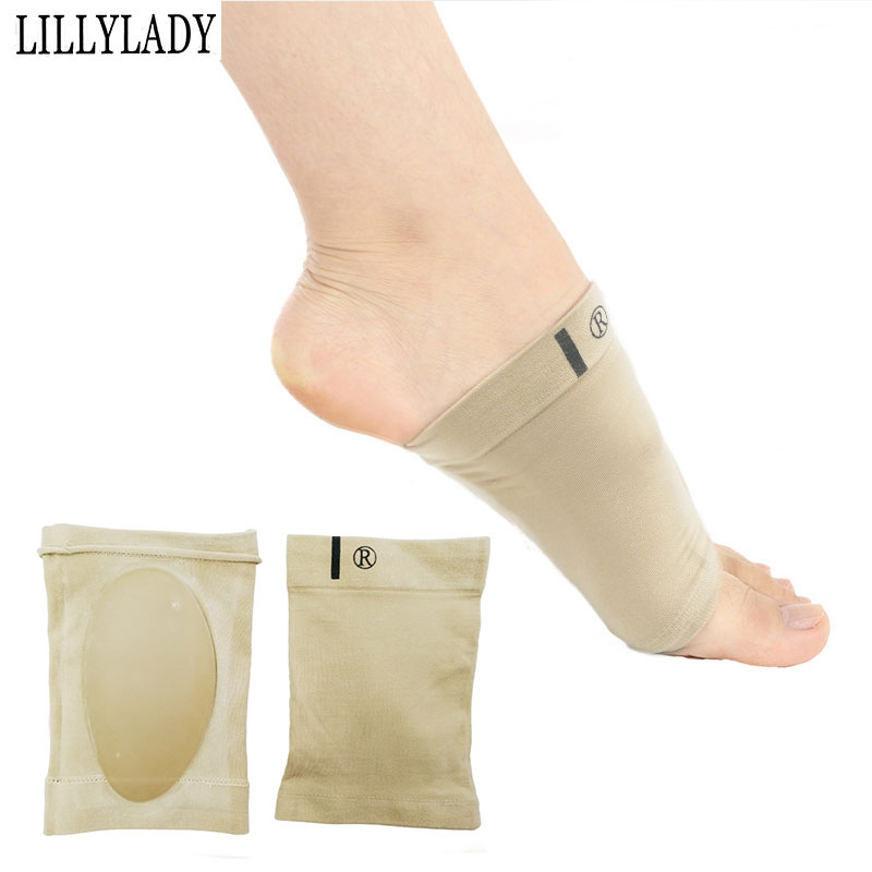 Silicone Gel Arches Footful Orthotic Arch Support Foot Brace Flat Feet Relieve Pain Comfortable Shoes Orthopedic Pad Insole