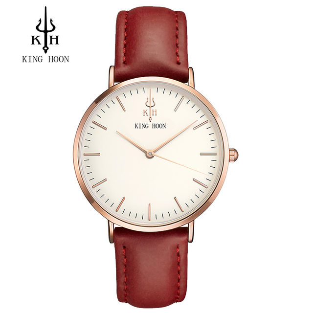 Analog Casual Elegant Leather Strap Watch