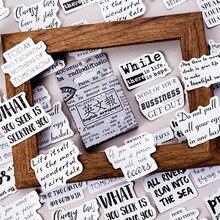 46 teile/schachtel Vintage Englisch Zeitung Tagebuch Papier Etikett Dicht Klebe Scrapbooking Dekorative DIY Aufkleber