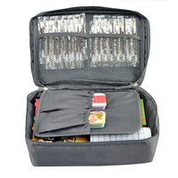 Free Shipping Grey Outdoor Travel First Aid Kit Bag Home Small Medical Box Emergency Survival Kit