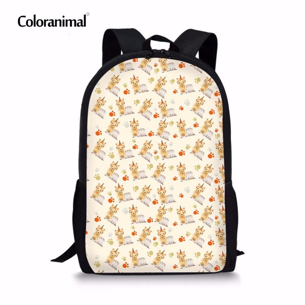 Coloranimal Boys Mochilas School Bags Women Large Back Pack Cute Animal Dog Pattern Children Daypack Bookbag Girl Bolsa De Mujer