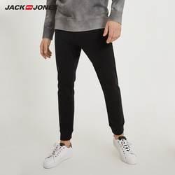 JackJones для мужчин зимние хлопковые Drawstring Спортивные штаны бизнес повседневное стрейч Тонкий классические мотобрюки swear C   218314540