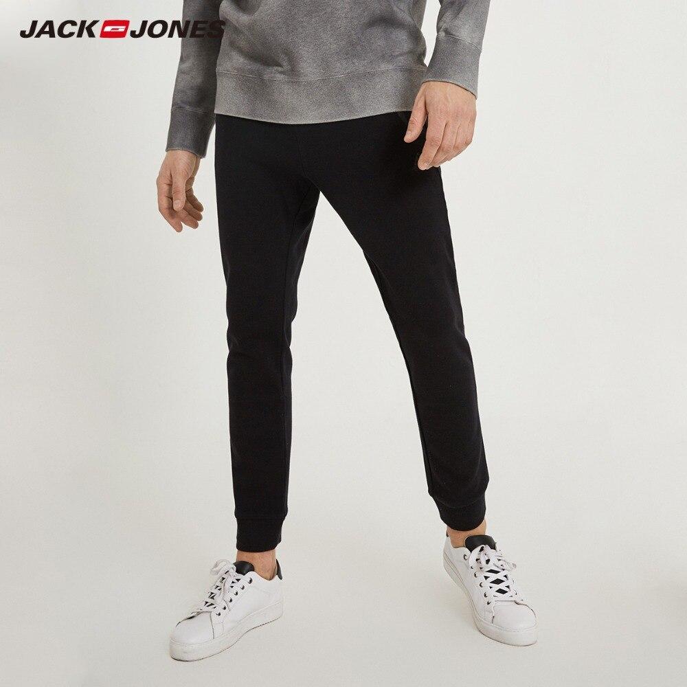 JackJones de algodón de invierno de los hombres de deportes pantalones casuales de negocios Slim clásico pantalones ropa C | 218314540 |