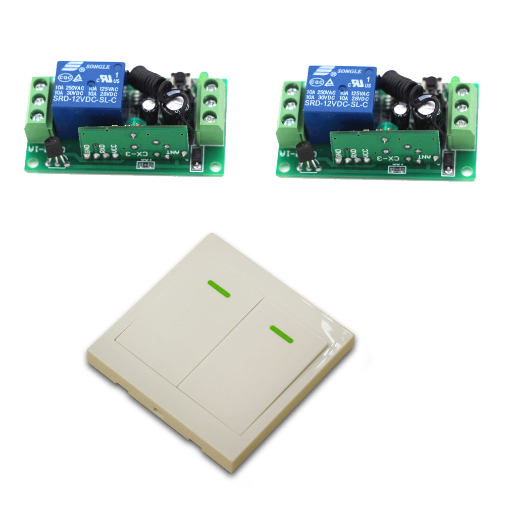 RF Wireless Remote Control Switch System 12V 1Ch Receiver Relay Module Wall Transmitter For Lighting Lamp 315/433Mhz wireless pager system 433 92mhz wireless restaurant table buzzer with monitor and watch receiver 3 display 42 call button