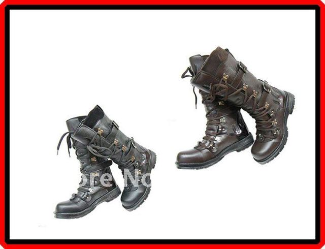Free Shipping Fashion Rock Punk Gothic Style Boots Biker Boots 2 Colours Available Black / Brown Size 38-43 (FWMB039) !!